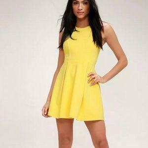 🆕NY&Co Lemon Sleeveless Skater Fit & Flair Dress